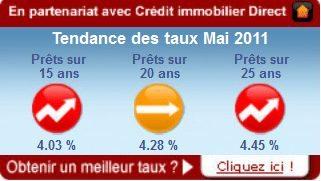 Tendance des taux Mai 2011 : Une accalmie dans la hausse jusqu'en Juillet ?