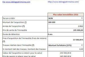 Simulateur plus-value immobilière 2020 : Un impôt dégressif selon la durée de détention