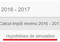 Simulateur de l'impôt sur le revenu 2017 payé sur les revenus perçus en 2016.