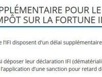 15 Juin : Délai supplémentaire pour la déclaration d'IFI en attendant le BOFIP.